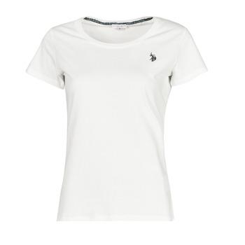 Oblečenie Ženy Tričká s krátkym rukávom U.S Polo Assn. BELLA R NECK TEE SS Biela