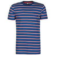 Oblečenie Muži Tričká s krátkym rukávom Urban Classics TB4136 Modrá / Červená / Biela