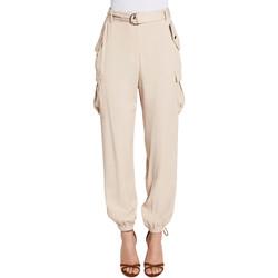 Oblečenie Ženy Nohavice Cargo Gaudi 011FD25018 Béžová