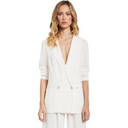 Oblečenie Ženy Saká a blejzre Gaudi 011FD35012 Biely