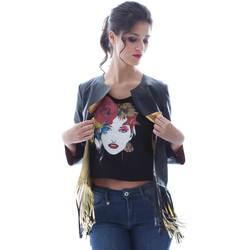 Oblečenie Ženy Saká a blejzre Grace Shoes DF131 čierna
