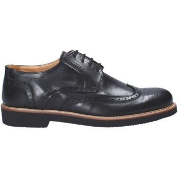 Topánky Muži Derbie Exton 9190 čierna