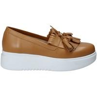 Topánky Ženy Slip-on Exton E01 Hnedá