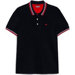 Oblečenie Muži Polokošele s krátkym rukávom NeroGiardini E072390U Modrá