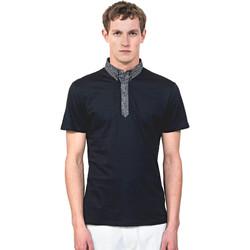 Oblečenie Muži Polokošele s krátkym rukávom Antony Morato MMKS01489 FA100084 Modrá