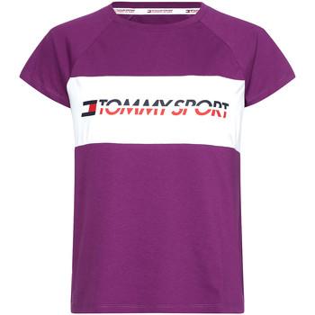 Oblečenie Ženy Tričká s krátkym rukávom Tommy Hilfiger S10S100331 Fialový