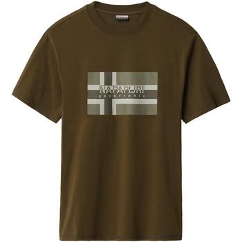 Oblečenie Muži Tričká s krátkym rukávom Napapijri NP0A4E38 Zelená