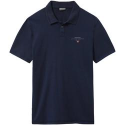 Oblečenie Muži Polokošele s krátkym rukávom Napapijri NP0A4E2L Modrá