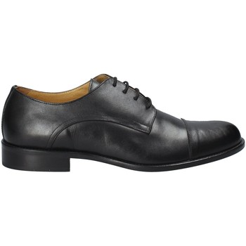 Topánky Muži Richelieu Exton 6013 čierna