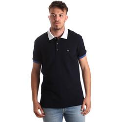 Oblečenie Muži Polokošele s krátkym rukávom NeroGiardini P972240U Modrá