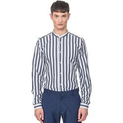 Oblečenie Muži Košele s dlhým rukávom Antony Morato MMSL00604 FA420096 Modrá