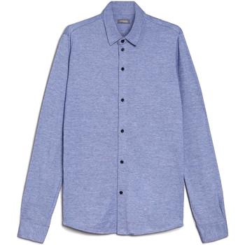 Oblečenie Muži Košele s dlhým rukávom NeroGiardini E072300U Modrá