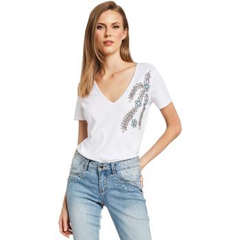 Oblečenie Ženy Tričká s krátkym rukávom Gaudi 011BD64017 Biely