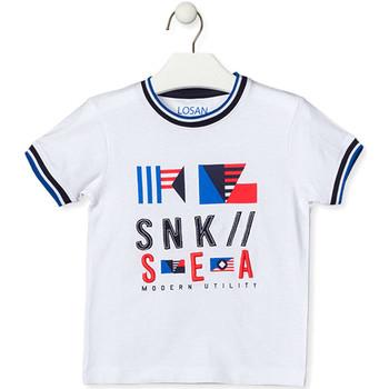 Oblečenie Deti Tričká s krátkym rukávom Losan 015-1000AL Biely