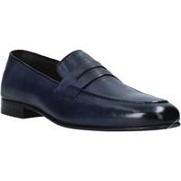 Topánky Muži Mokasíny Exton 1020 Modrá