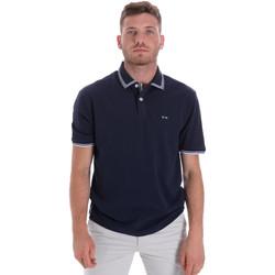 Oblečenie Muži Polokošele s krátkym rukávom Les Copains 9U9020 Modrá