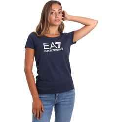 Oblečenie Ženy Tričká s krátkym rukávom Ea7 Emporio Armani 8NTT63 TJ12Z Modrá