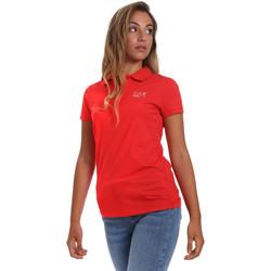 Oblečenie Ženy Polokošele s krátkym rukávom Ea7 Emporio Armani 3HTF57 TJ29Z Červená