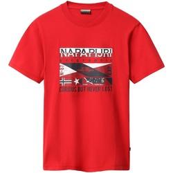 Oblečenie Muži Tričká s krátkym rukávom Napapijri NP0A4E35 Červená