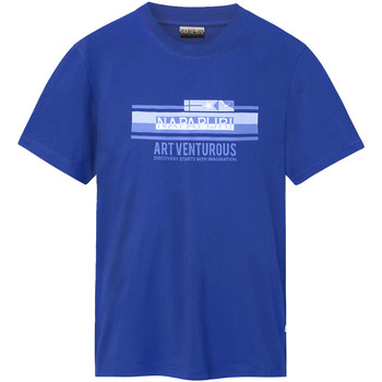 Oblečenie Muži Tričká s krátkym rukávom Napapijri NP0A4E36 Modrá