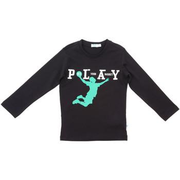 Oblečenie Deti Tričká s dlhým rukávom Melby 70C5524 čierna