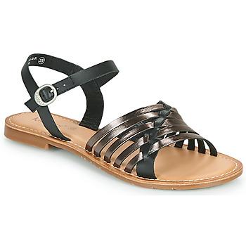 Topánky Ženy Sandále Kickers ETCETERA Čierna / Strieborná