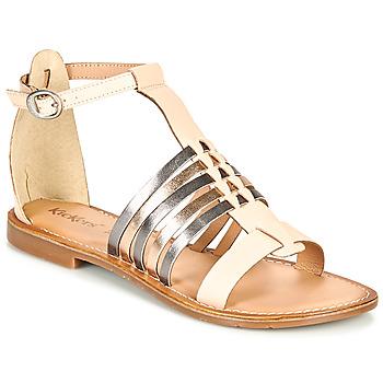 Topánky Ženy Sandále Kickers ETIKET Ružová / Metalická / Strieborná