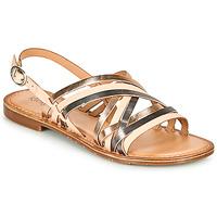 Topánky Ženy Sandále Kickers ETRUSK Ružová / Metalická / Strieborná