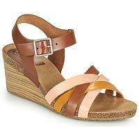 Topánky Ženy Sandále Kickers SOLYNIA Ružová / Hnedá / Žltá