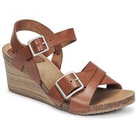 Topánky Ženy Sandále Kickers SPAINSTRAP Hnedá