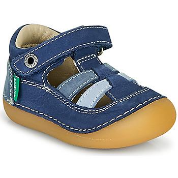 Topánky Chlapci Sandále Kickers SUSHY Modrá
