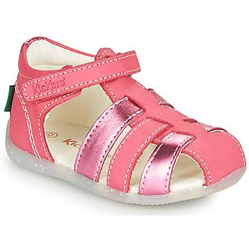 Topánky Dievčatá Sandále Kickers BIGFLO-2 Ružová