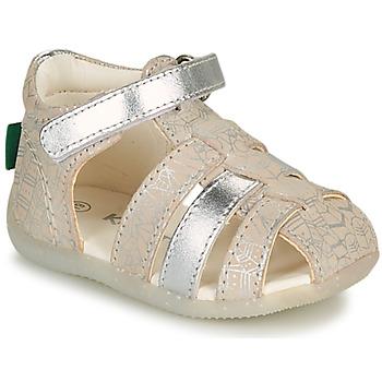 Topánky Dievčatá Sandále Kickers BIGFLO-2 Strieborná