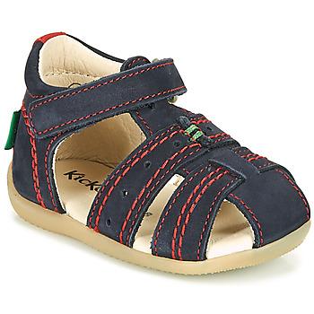 Topánky Chlapci Sandále Kickers BIGBAZAR-2 Béžová / Žltá / Námornícka modrá