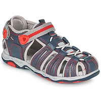 Topánky Chlapci Sandále Kickers KAWA Námornícka modrá / Červená