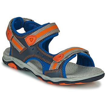 Topánky Chlapci Sandále Kickers KIWI Modrá / Oranžová