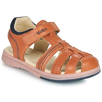 Topánky Chlapci Sandále Kickers PLATINIUM Ťavia hnedá