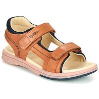Topánky Chlapci Sandále Kickers PLATINO Ťavia hnedá