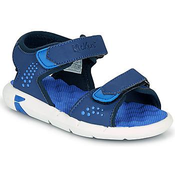Topánky Chlapci Sandále Kickers JUMANGAP Modrá