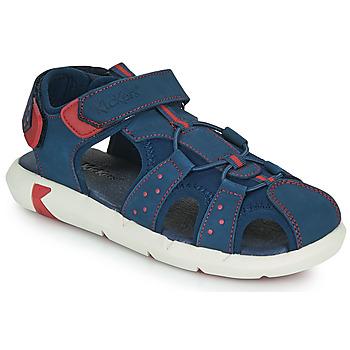 Topánky Chlapci Sandále Kickers JUMANGE Námornícka modrá