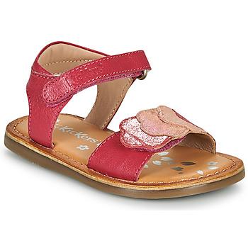 Topánky Dievčatá Sandále Kickers DYASTAR Ružová