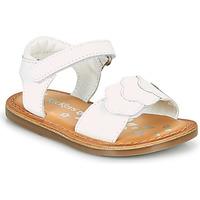 Topánky Dievčatá Sandále Kickers DYASTAR Biela