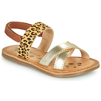 Topánky Dievčatá Sandále Kickers DYACROSS Zlatá / Leopard