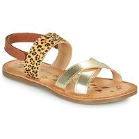 Topánky Dievčatá Sandále Kickers DYACROSS Zlatá