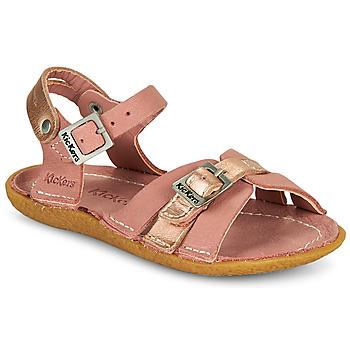 Topánky Dievčatá Sandále Kickers PEPETE Ružová