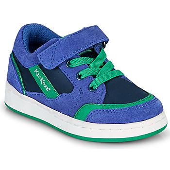 Topánky Chlapci Nízke tenisky Kickers BISCKUIT Modrá