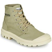 Topánky Polokozačky Palladium PAMPA HI ORGANIC II Zelená