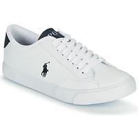 Topánky Deti Nízke tenisky Polo Ralph Lauren THERON IV Biela / Námornícka modrá