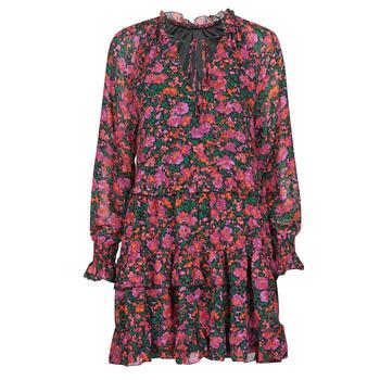 Oblečenie Ženy Krátke šaty Moony Mood NOMINA Čierna / Ružová