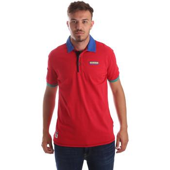 Oblečenie Muži Polokošele s krátkym rukávom Napapijri N0YIG1 Červená